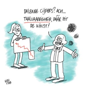 Live cartoon over laaggeletterdheid