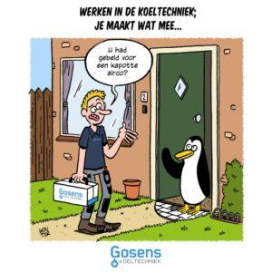 Cartoon voor Gosens koeltechniek