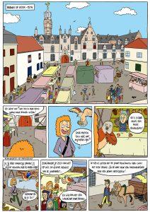 Strippagina uit stripboek over het Markiezenhof