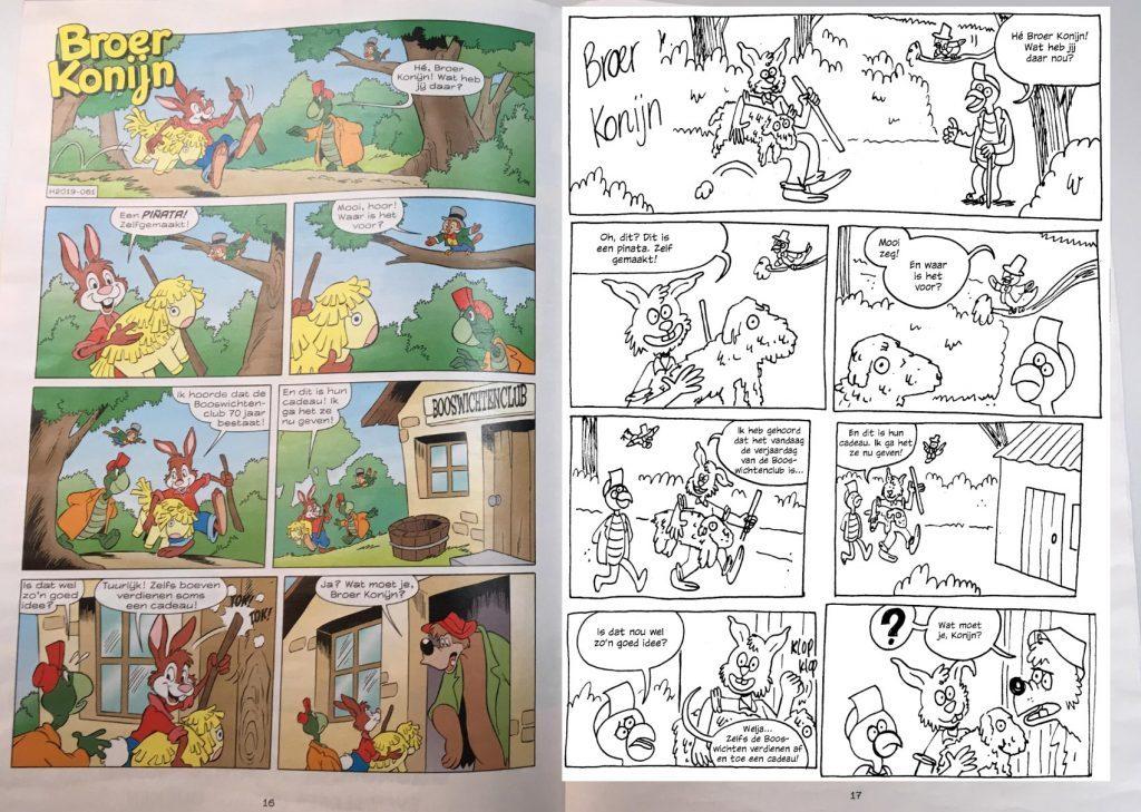 Donald Duck scenario Broer Konijn